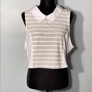 NWOT BCBGeneration Cotton Mixed Media Crop Top